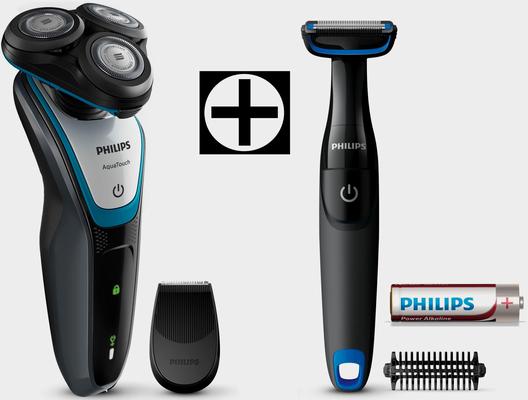 Philips Elektrorasierer Series 5000 S5070/92, Aufsätze: 1, Langhaartrimmer, inklusive gratis Bodygroom, AquaTouch Wet & Dry, Akku