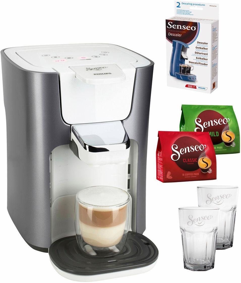 SENSEO® Kaffeepadmaschine LatteDuo HD7857/20, inkl Gratis-Zugaben im Wert von 35 €