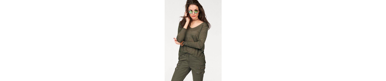 Aniston V-Ausschnitt-Pullover, mit Glanzfäden