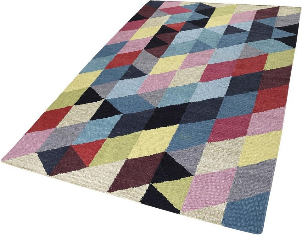 Teppich, Esprit, »Rainbow Triangel«, Höhe 5 mm, handgewebt