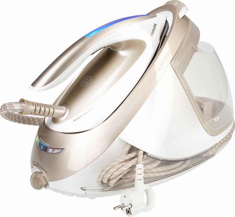 Philips Dampfbügelstation GC9642/60 PerfectCare Elite Silence, 1800 ml Wassertank, 2400 W, Optimal TEMP, 7,2 bar Dampfdruck, 490 g/Min Dampfstoß, gold