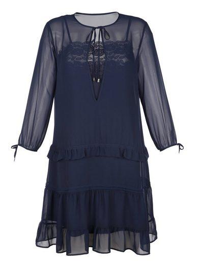 Alba Moda Kleid in doppellagiger Verarbeitung