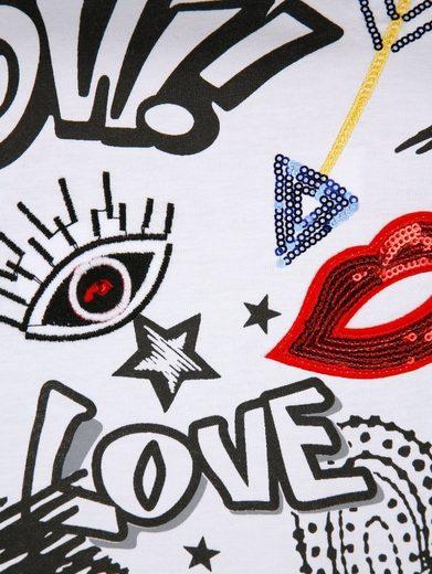 Alba Moda Motiv-Shirt mit modischem Druckmotiv