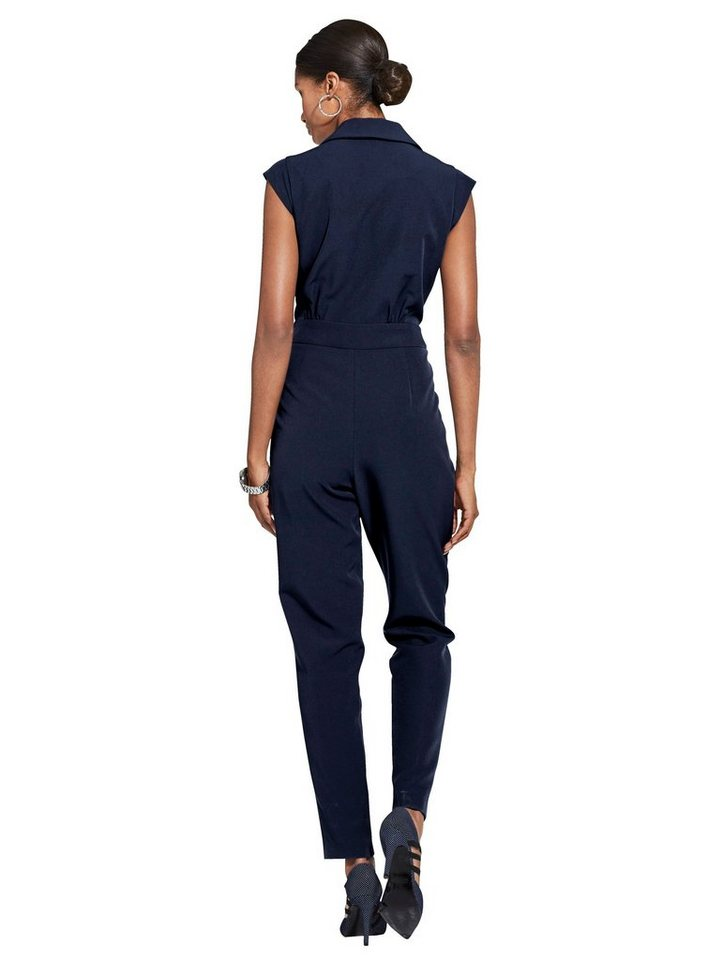 Damen Alba Moda Overall mit Wickeloptik blau | 04055714311542
