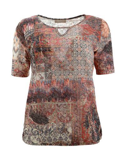 Mona Shirt mit grafischem Druckmix