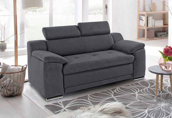 sit&more 2-Sitzer, inklusive Kopfteilverstellung