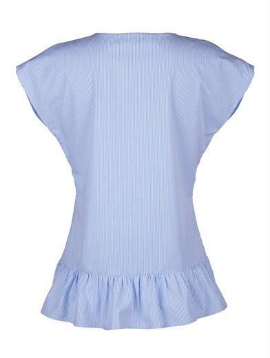 Alba Moda Blusenshirt mit gewebtem Streifendessin Gewebter Nadelstreifen