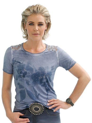 Mona Shirt mit Spitzenapplikation