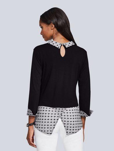 Alba Moda Blusenshirt im aktuellem Layering-Look