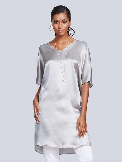 Alba Moda Longshirt aus Seide in modisch weiter Form