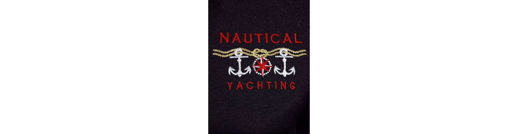 Mona Poloshirt mit maritimer Stickerei Billig Verkauf Manchester 8caOdF