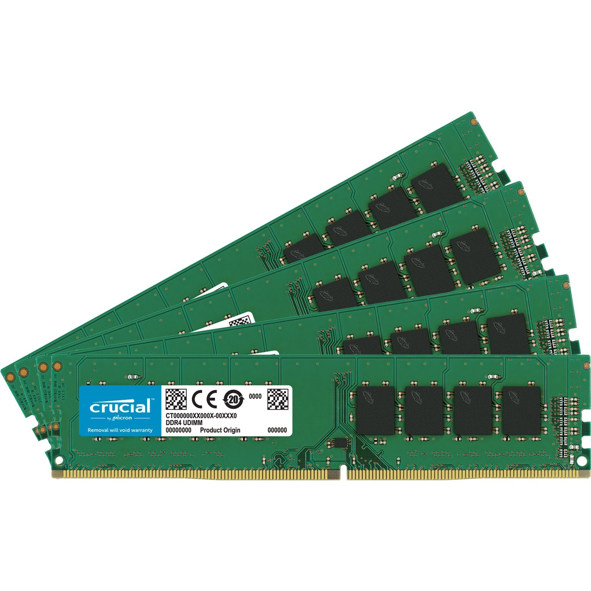 Crucial Arbeitsspeicher »DIMM 32 GB DDR4-2400 Quad-Kit«