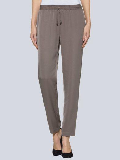 Alba Moda Joggpants aus weichfallendem Materialmix