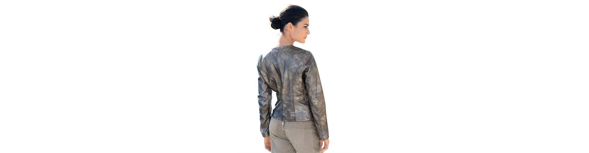 Verkauf Niedrig Kosten Alba Moda Lederjacke mit Metallic-Print mit Metallic-Effekt Ja Wirklich kAb8qhdvft