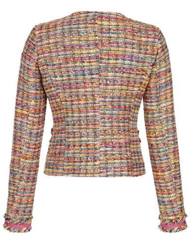 Alba Moda Kurzjacke mit Seidenfutter und farbenfrohem Bouclé