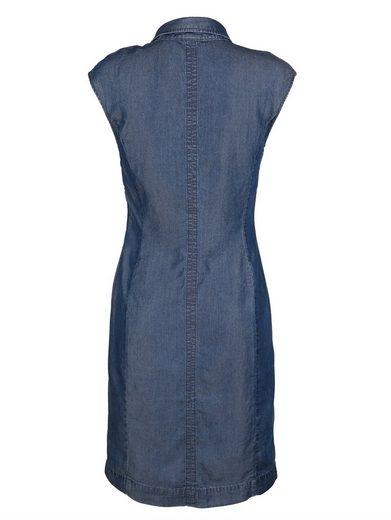 Alba Moda Dress In A Cotton-mix-lyocell