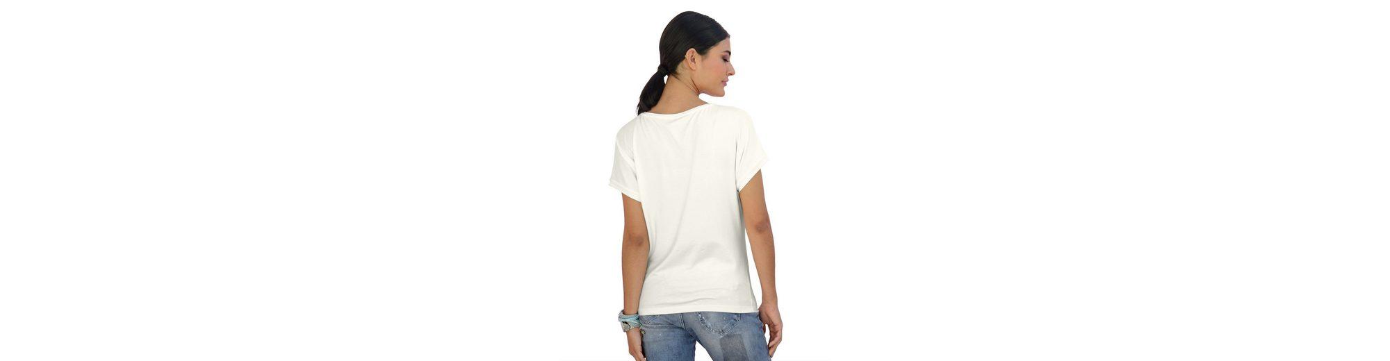 Alba Moda Shirt mit appliziertem Schriftzug Verkauf Footlocker Finden Großen Günstigen Preis Billig R32G1