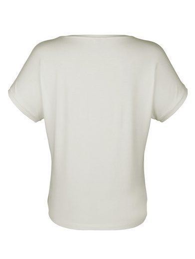 Alba Moda Shirt mit appliziertem Schriftzug