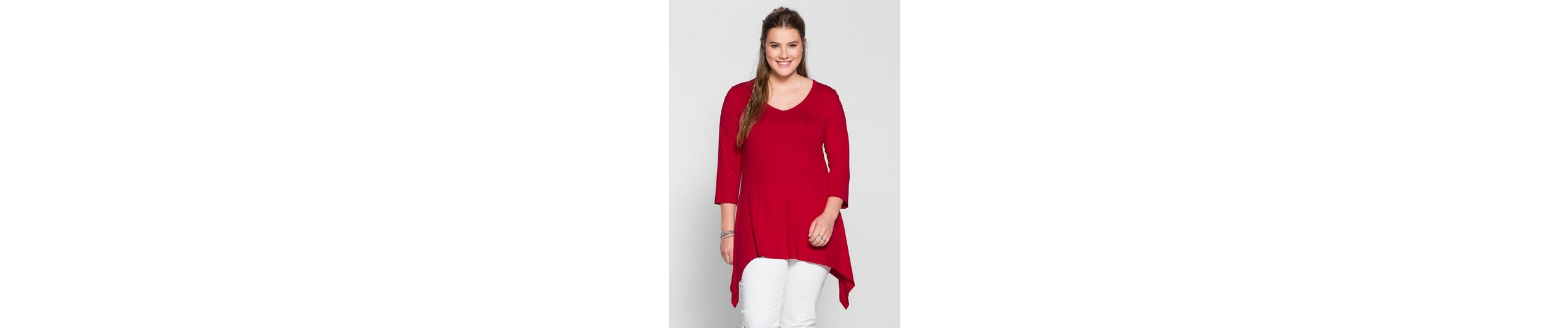 sheego Casual Longshirt, in Zipfelform