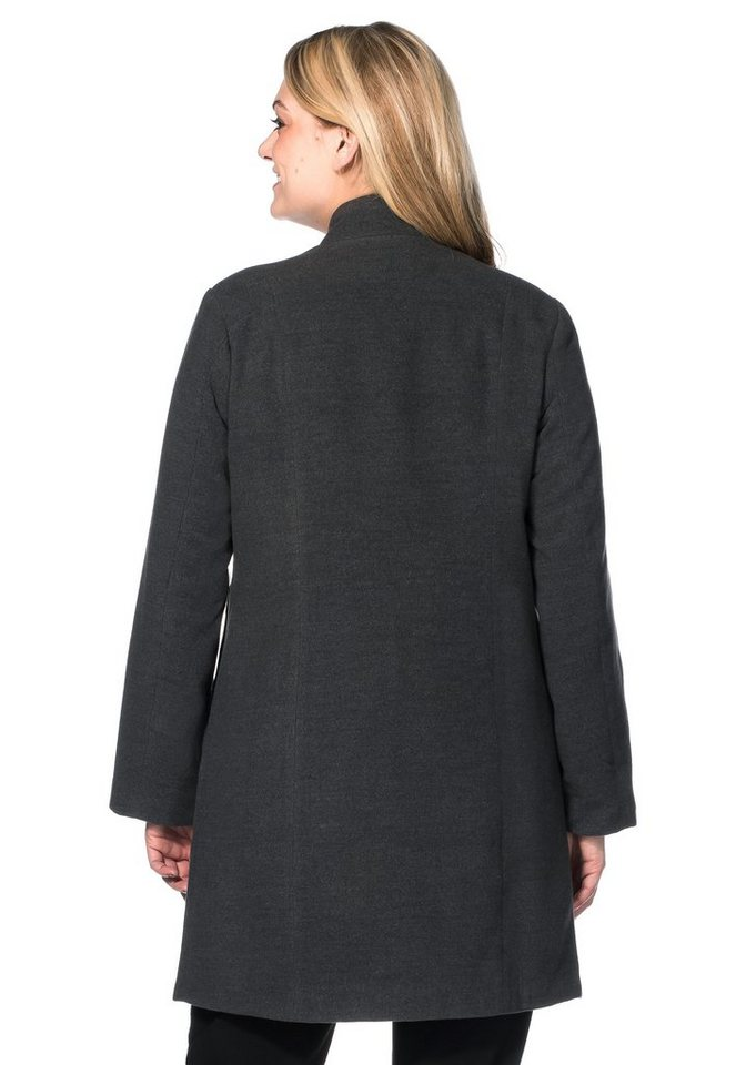 Damen sheego Style Kurzmantel Teilungsnähte vorne und hinten grau | 04260309747426