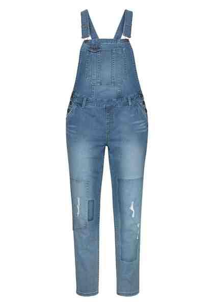sheego Denim Stretch-Jeans Verstellbare Träger