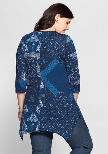 sheego Style Longshirt, in Patchwork-Optik