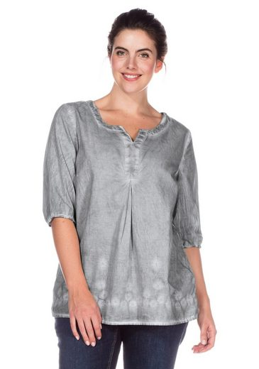 Sheego Casual Tunic, Oil-washed-optics, Each Piece Is Unique
