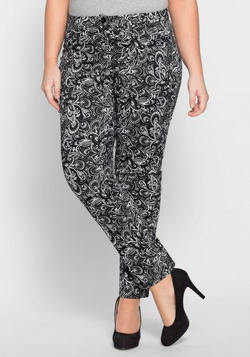 Damen sheego Style Webhose schwarz | 08680679267038