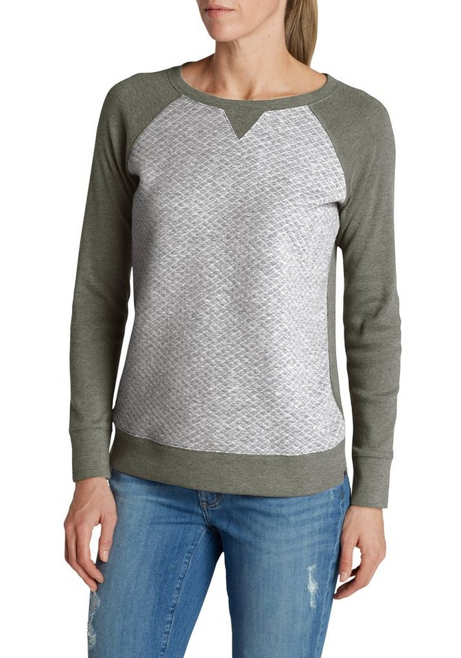 Eddie Bauer Sweatshirt in Salbei meliert