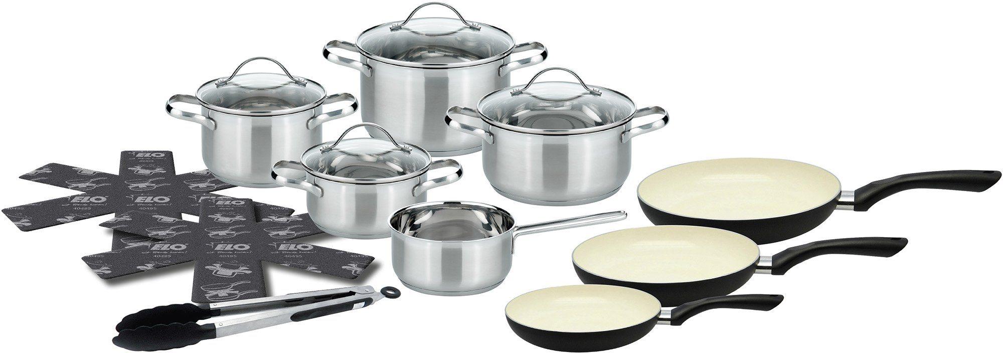 Meine Küche Topf-Set, 15-teilig, Edelstahl/Aluminium, Induktion