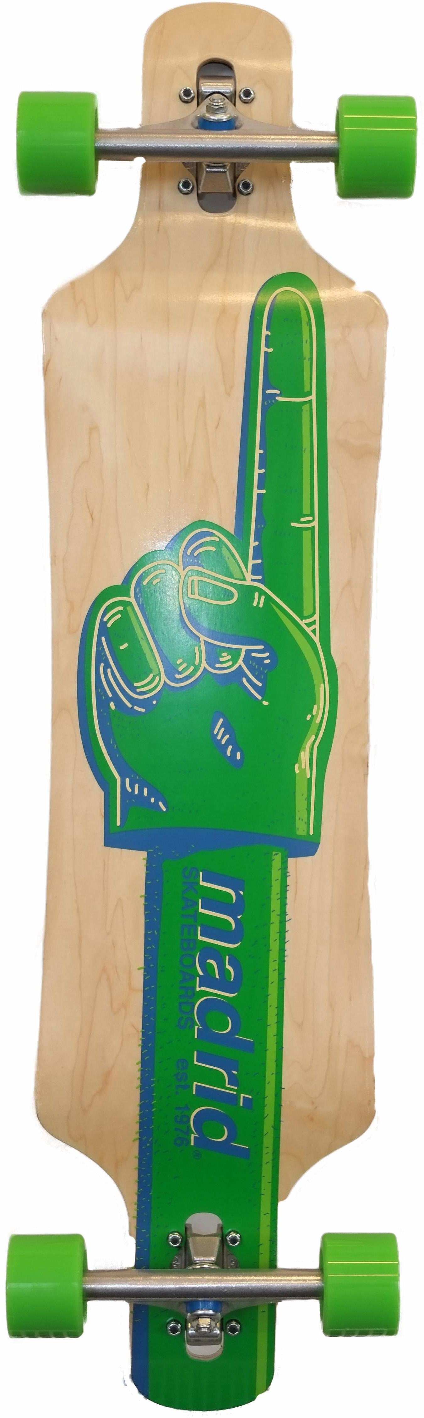 madrid SKATEBOARDS Longboard »Green Finger DT«