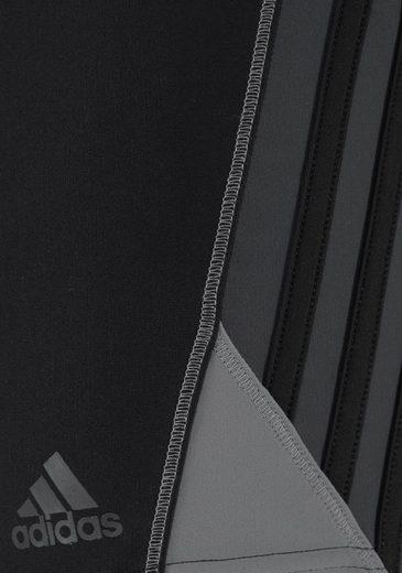 adidas Performance Boxer-Badehose mit seitlichen Kontrasteinsätzen