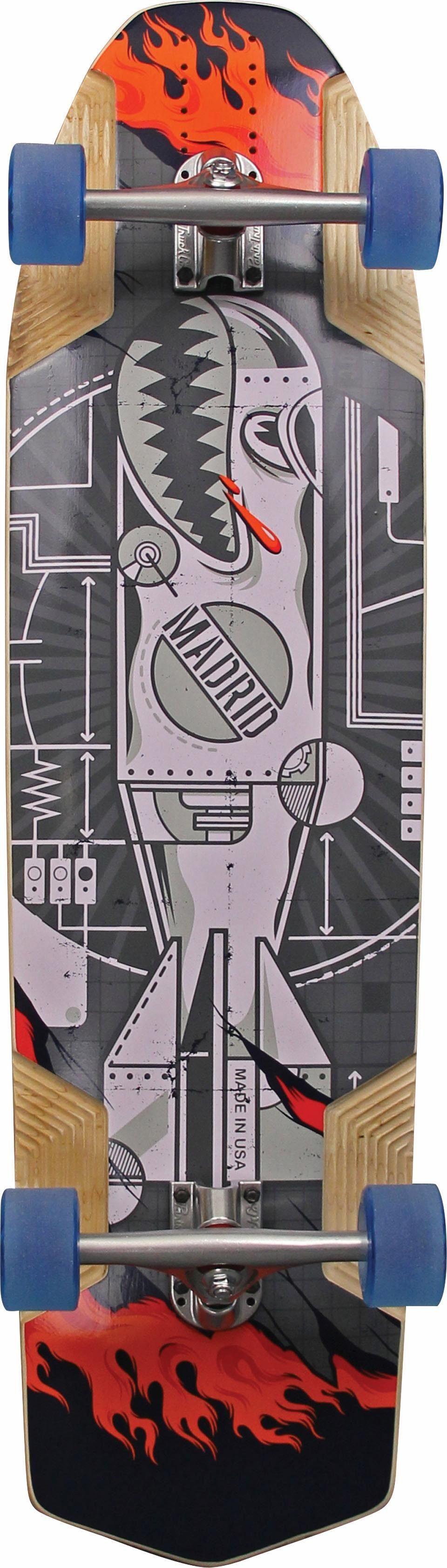 madrid SKATEBOARDS Longboard »WMD Maxed«, mit verstellbarem Achsabstand