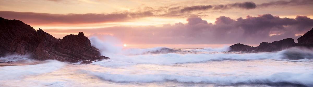 EUROGRAPHICS Acrylglasbild »Boyeegther Beach«, 180/50 cm