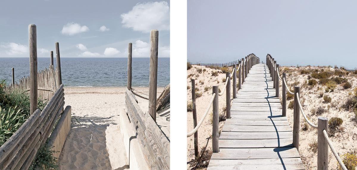 EUROGRAPHICS Glasbild »Way to paradise«, 2 x 20/20 cm