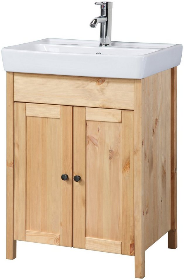 konifera waschtisch sylt landhaus breite 56 cm 2 tlg online kaufen otto. Black Bedroom Furniture Sets. Home Design Ideas