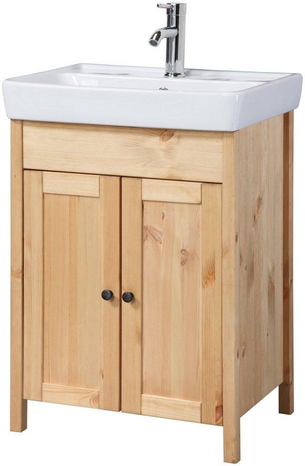 Waschtisch sylt landhaus breite 56 cm 2 tlg online for Waschbecken landhaus