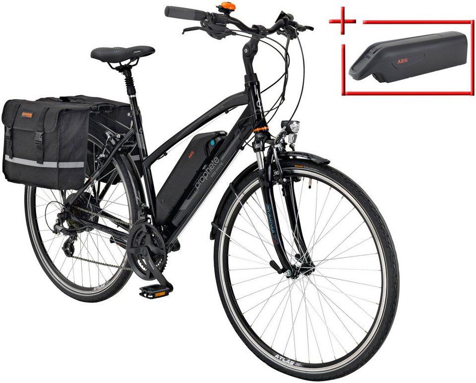 prophete e bike trekking damen navigator 760 28 zoll 24 gang heckmotor 374 wh online. Black Bedroom Furniture Sets. Home Design Ideas