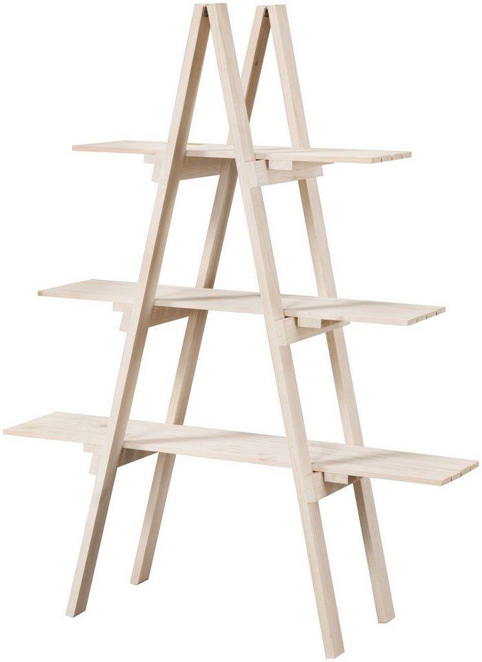badregal aus massivholz mit 3 ablagen kaufen otto. Black Bedroom Furniture Sets. Home Design Ideas