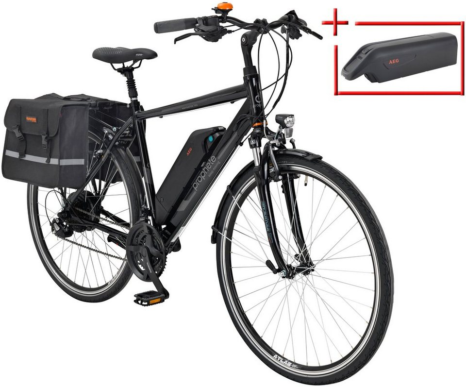 prophete e bike trekking herren navigator 760 28 zoll 24 gang heckmotor 374 wh online. Black Bedroom Furniture Sets. Home Design Ideas