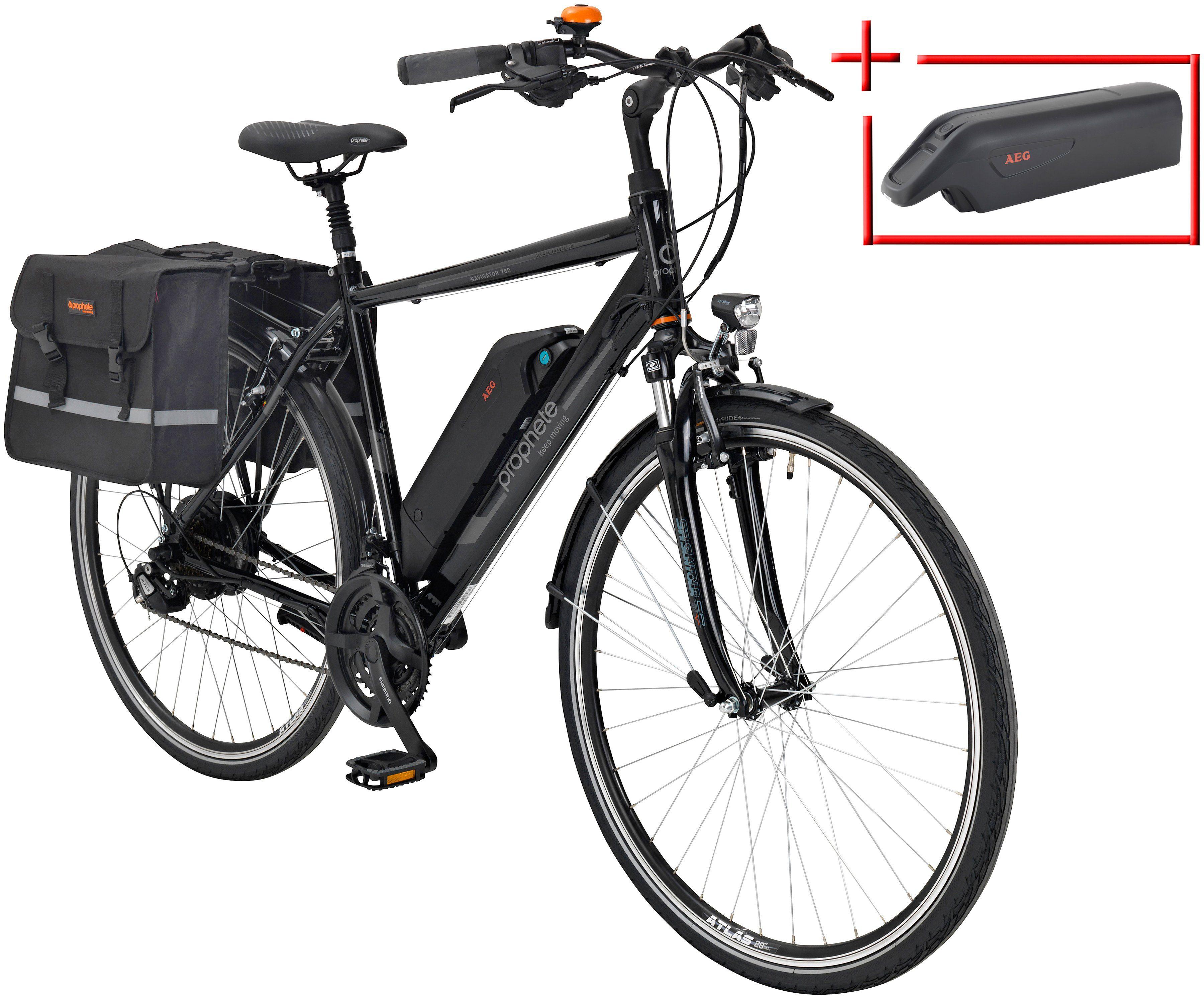 Prophete E-Bike Trekking Herren »Navigator 760«, 28 Zoll, 24-Gang, Heckmotor, 374 Wh
