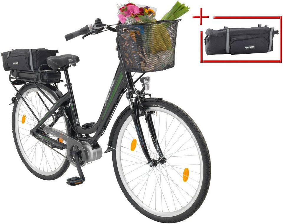 fischer fahrraeder e bike city damen ecu 1703 28 zoll 7 gang mittelmotor inkl 2 akku. Black Bedroom Furniture Sets. Home Design Ideas