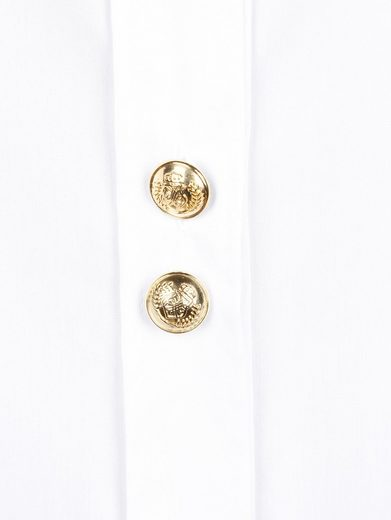 Alba Moda Oversized Blouse-button With Gold Color