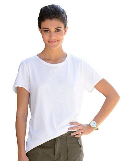 Alba Moda Shirt mit gekrempelten Ärmeln