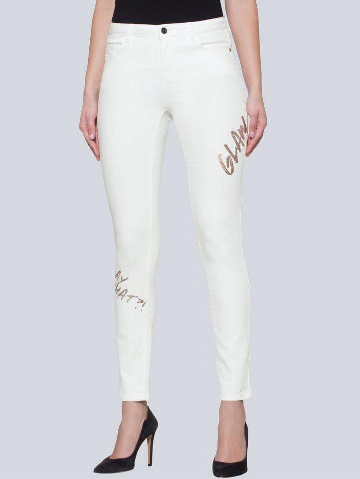 Alba Moda Jeans mit Metallic-Prints in schlanker Röhrenform online ... eb7df104a3
