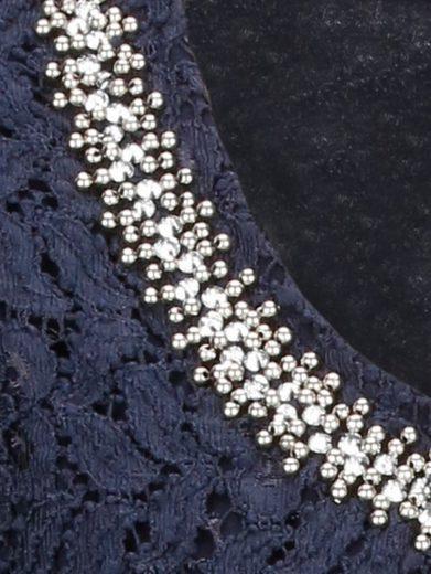 Mona Spitzenshirt mit Perlen- und Strasszier