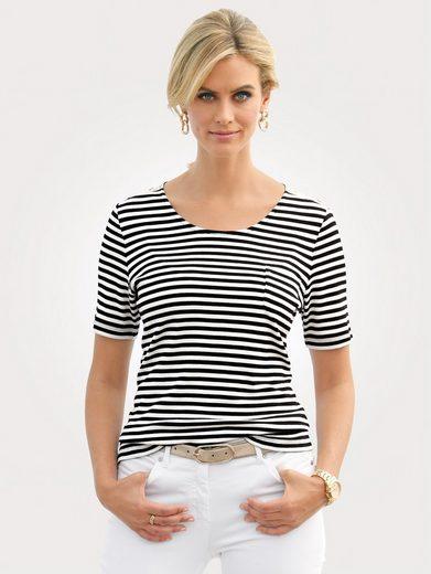 Mona Shirt mit feiner Rippenstruktur