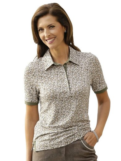 Mona Polo Shirt With Plain-colored Jersey Inserts