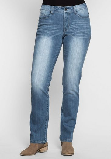 sheego Denim Stretch-Jeans, Used Effekte