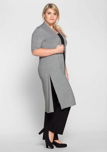 sheego Style Jerseymantel, mit hohen Seitenschlitzen